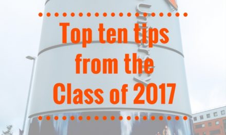 Top Ten Tips from the Class of 2017