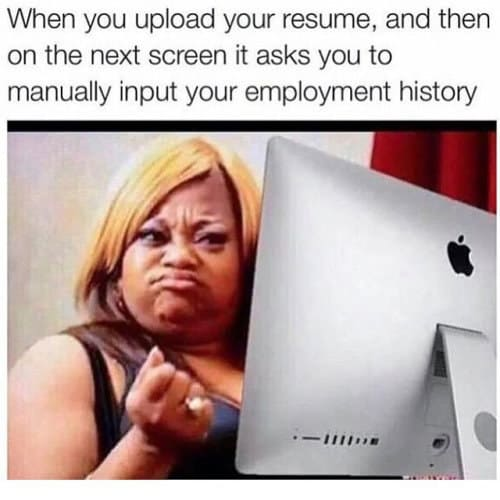 upload resume placement funny