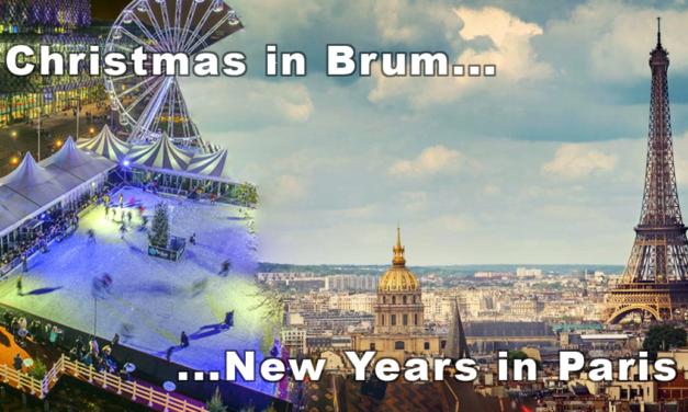 Christmas in Birmingham, New Years in Paris