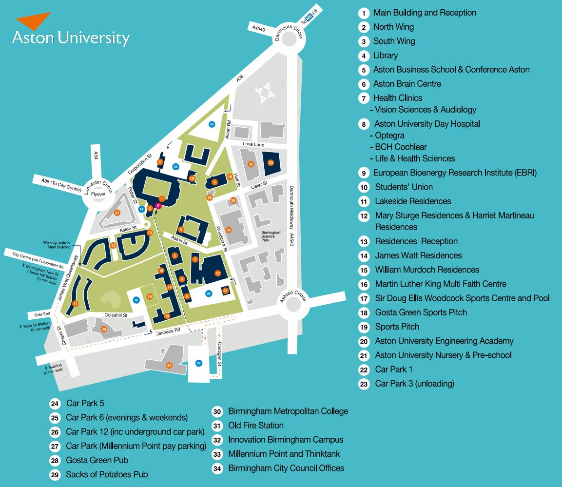Aston Uni Map What's going on at Aston Freshers? | Aston Life Aston Uni Map